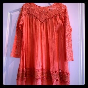 Free People Salmon colored tunic